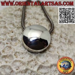 Smooth silver pendant in...