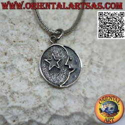 Silver pendant, medal with...