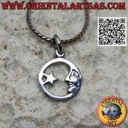 Silver pendant, star...