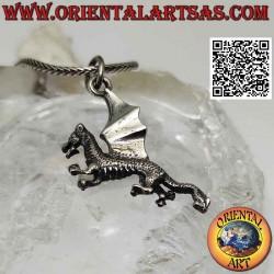 Silver pendant, rampant...