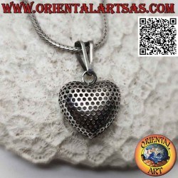 Silver pendant, perforated...