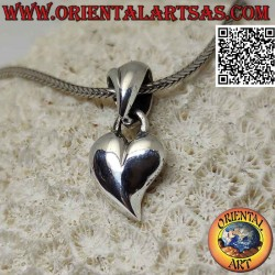 Silver pendant, smooth and...