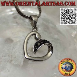 Silver pendant, heart...