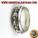 silver ring band skulls