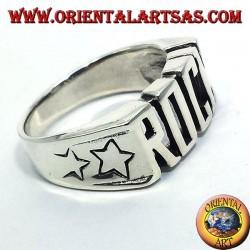 Silver ring ROCK