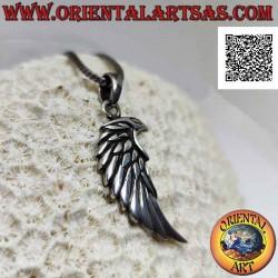 Silver pendant, angel wing...
