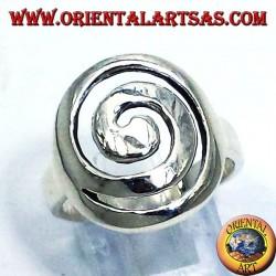 espiral anillo de plata