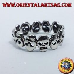 clamp silver ring skulls