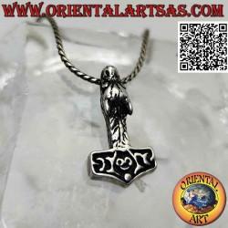 Silver pendant, Thor's...