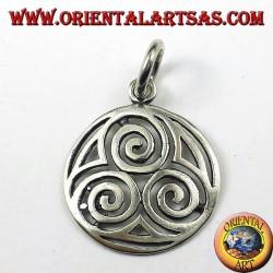 pendentif en argent, Le druidista triple spirale