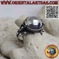 Silver ring in a round...