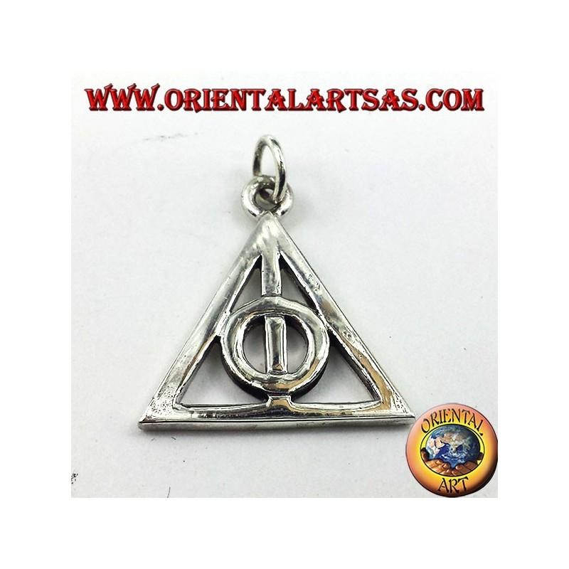 Deathly Hallows pendentif en argent cercle intérieur d'un triangle
