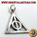 Ciondolo Doni della Morte in argento cerchio all'interno di un triangolo
