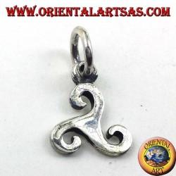 ciondolo in argento, triscele simbolo del celtico