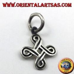 silver pendant, ShieldKnot
