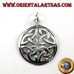pendentif en argent, Le nœud Duleek (symbole celtique)