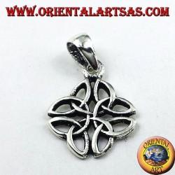 ciondolo in argento, Il Nodo di Iona simbolo celtico