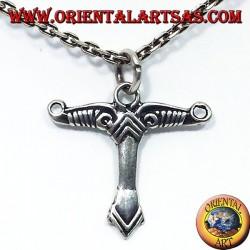 ciondolo in argento albero del mondo  simbolo celtico
