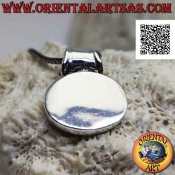 Silver pendant, horizontal...