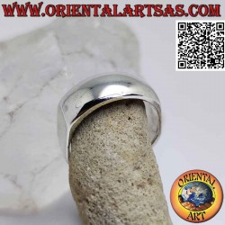 Smooth squared silver ring,...