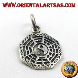 silver pendant Pa Kua The 8 Trigrams Chinese