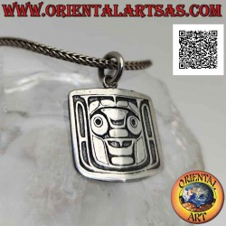 Silver pendant medal with...