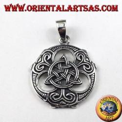 Ciondolo in argento Triquetra nodo celtico