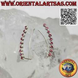 Серебряная серьга-альпинист...