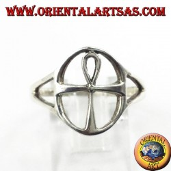 Silver ring, cross Egyptian Ankh