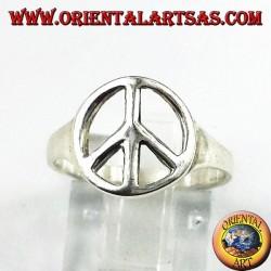 Silberring Symbol des Friedens