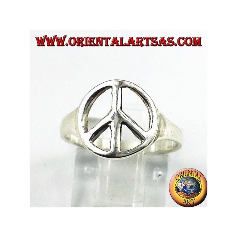 Anello in argento simbolo di pace