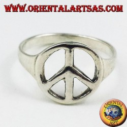 Silver ring symbol of peace