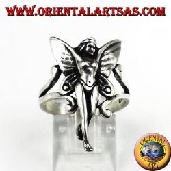 Серебряное кольцо фея
