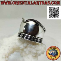 Silver ring with wide...