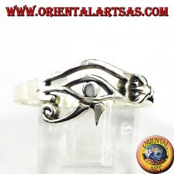 Silver ring small eye of Horus and Eye of Ra