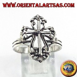 silver ring with cross