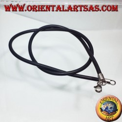 rubber cord with silver hook
