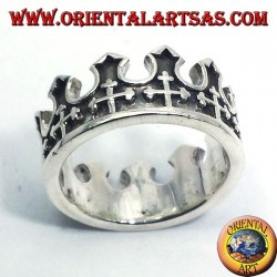 Silver ring of the King crown