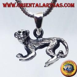 ciondolo in argento, scimmia tridimensionale