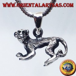 Silver pendant, three-dimensional monkey lemur