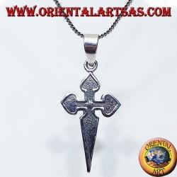 pendentif en argent, La Croix de Santiago