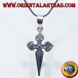 silver pendant, The Cross of Santiago