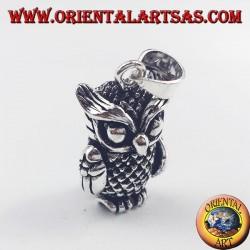 pendentif en argent, en trois dimensions Owl mobile