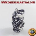 ciondolo in argento ,Gufo mobile tridimensionale