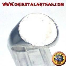 """anillo de plata redondo Chevalier, de 15 mm. """"O"""""""