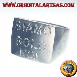 Anello chevalier quadrato SIAMO SOLO NOI V. Rossi