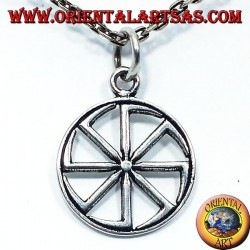 argent roue pendentif soleil Kolovrat