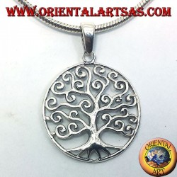 Klimt tree of life pendant silver