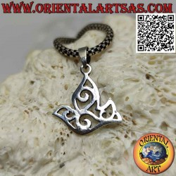 Silver pendant, the dove of...