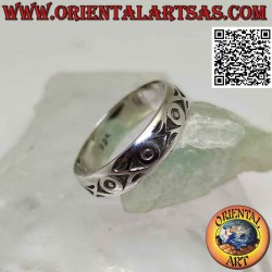Silver band ring, series of...